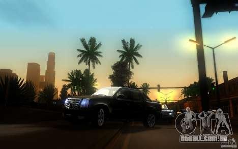 Cadillac Escalade EXT para GTA San Andreas vista interior