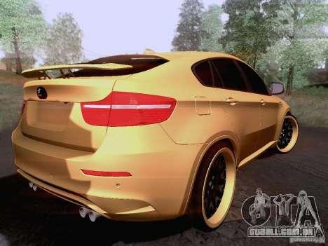 BMW X6M Hamann para GTA San Andreas vista direita