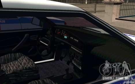 Polícia PSB Vaz 2114 para GTA San Andreas vista traseira
