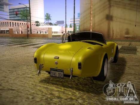 Shelby Cobra 427 para GTA San Andreas esquerda vista
