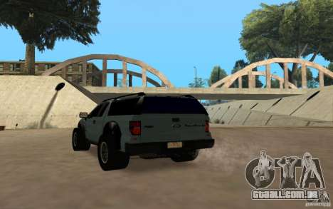 Ford Velociraptor para GTA San Andreas vista traseira