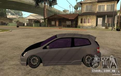 Honda Civic Type-R para GTA San Andreas esquerda vista