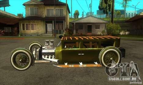 HotRod sedan 1920s para GTA San Andreas esquerda vista