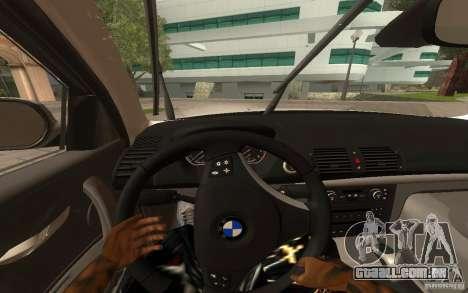 BMW 120i para GTA San Andreas vista traseira
