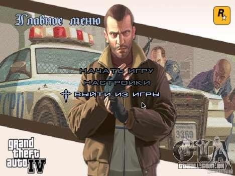 Menu como em GTA IV para GTA San Andreas