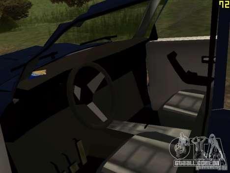 Moskvich esfarrapado para GTA San Andreas vista traseira