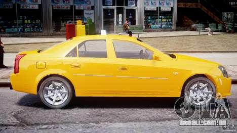 Cadillac CTS Taxi para GTA 4 esquerda vista