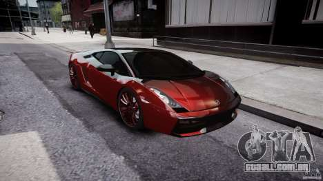 Lamborghini Gallardo Superleggera 2007 (Beta) para GTA 4 vista interior