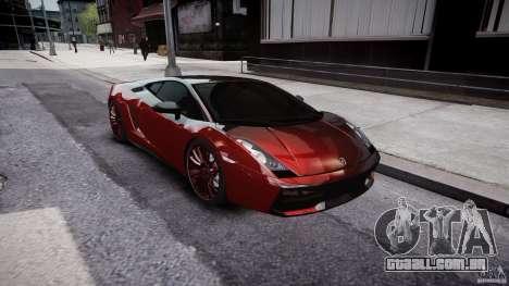 Lamborghini Gallardo Superleggera 2007 (Beta) para GTA 4 vista interior