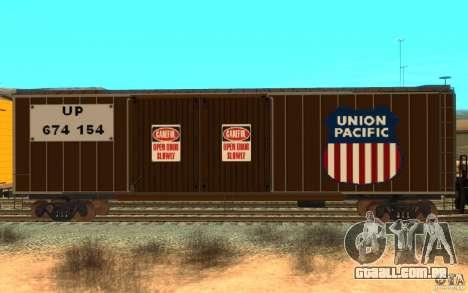 Union Pacific Reefer para GTA San Andreas esquerda vista