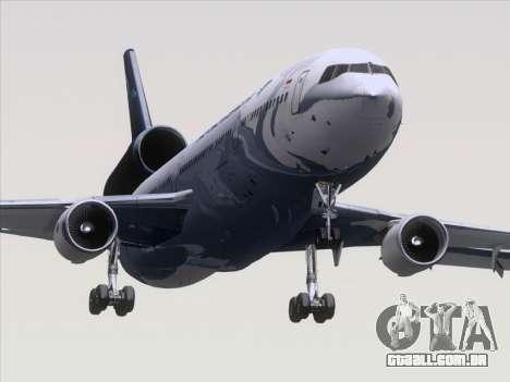 McDonnell Douglas MD-11 Garuda Indonesia para GTA San Andreas traseira esquerda vista