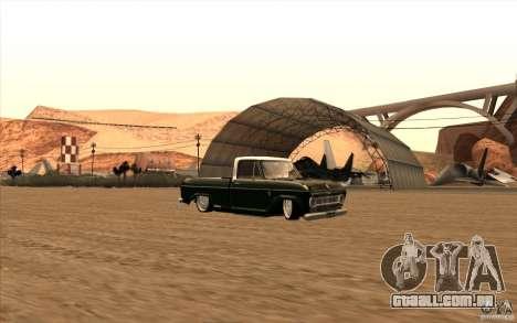 Chevrolet C-10 Fixxa para GTA San Andreas vista traseira