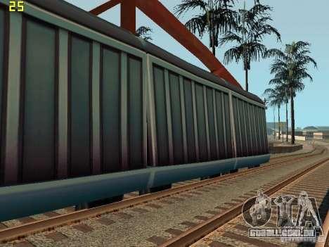 Vagão de metrô surfistas para GTA San Andreas esquerda vista