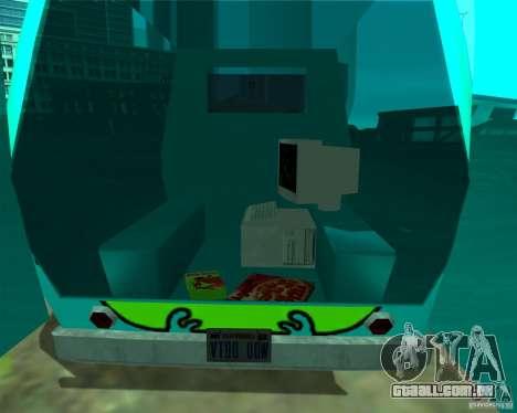 Mystery Machine para GTA San Andreas vista traseira