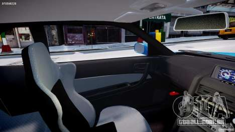 Nissan Skyline R-34 V-spec para GTA 4 vista interior