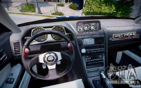 Nissan Skyline GT-R R34 2F2F para GTA 4 vista de volta