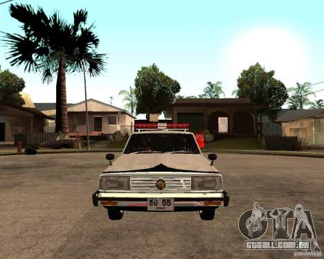 Nissan Skyline 2000 GT Police para GTA San Andreas vista direita