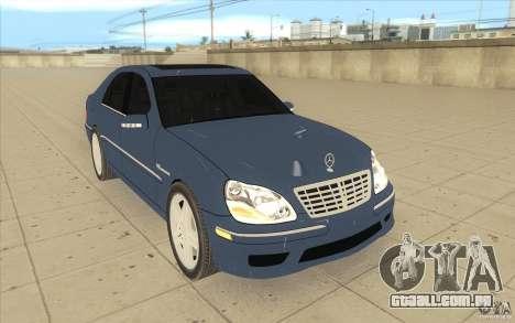 Mercedes-Benz S-Klasse para GTA San Andreas vista traseira