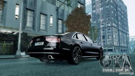 Audi A8 LED 2012 para GTA 4 traseira esquerda vista