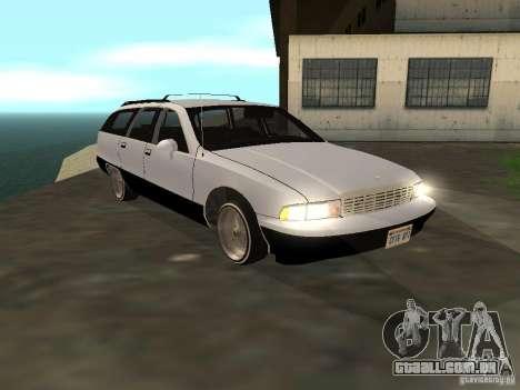 Chevrolet Caprice Wagon 1992 para GTA San Andreas traseira esquerda vista