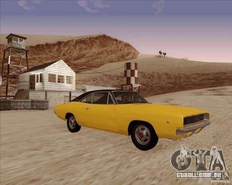 Dodge Charger RT 1968 Bullit clone para GTA San Andreas vista traseira