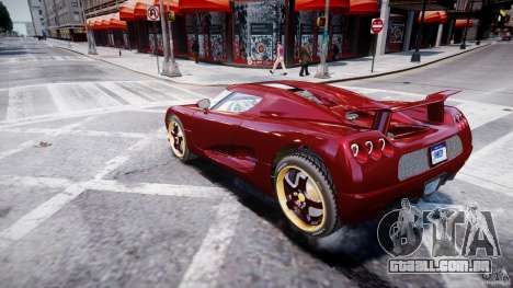 Koenigsegg CCRT para GTA 4 esquerda vista
