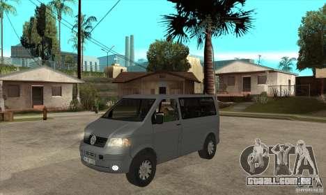 Volkswagen Transporter T5 TDI para GTA San Andreas