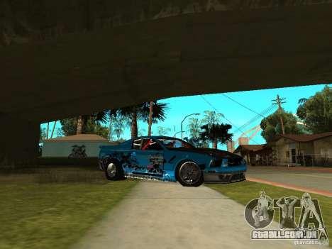 Ford Mustang Drag King para GTA San Andreas traseira esquerda vista