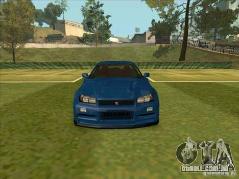 Nissan Skyline GT-R R34 from FnF 4 para GTA San Andreas vista interior