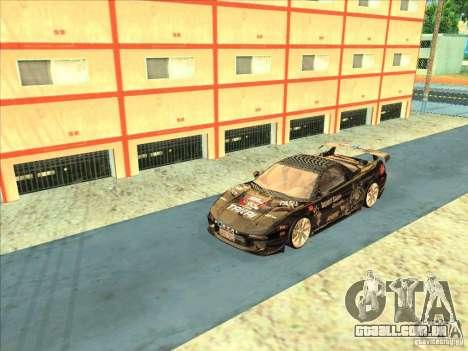 Acura NSX 1991 Tunable para GTA San Andreas vista interior