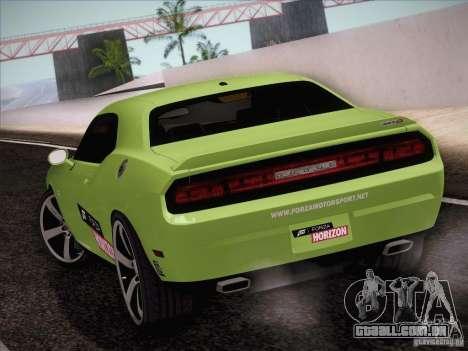 Dodge Challenger SRT8 2010 para GTA San Andreas traseira esquerda vista