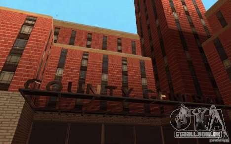 Novas texturas para o hospital em Los Santos para GTA San Andreas terceira tela