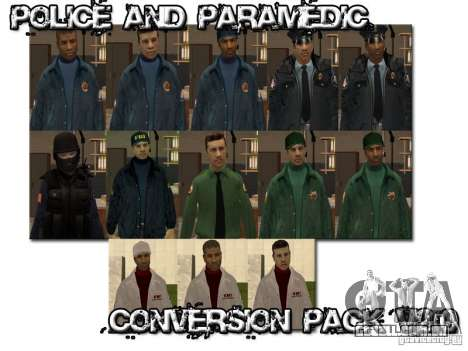 Police and Paramedic Conversion Mod 2.0 para GTA San Andreas