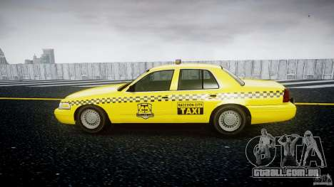 Ford Crown Victoria Raccoon City Taxi para GTA 4 esquerda vista