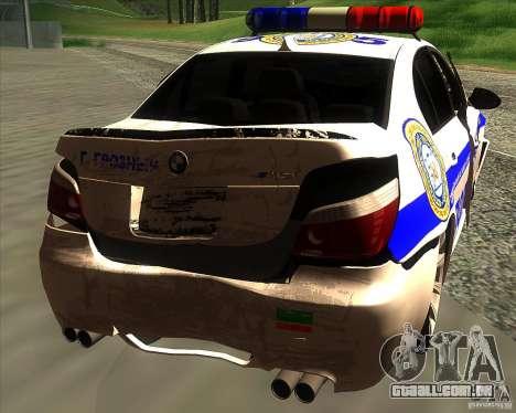 BMW M5 E60 polícia para o motor de GTA San Andreas