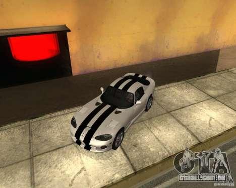 Dodge Viper GTS Coupe para GTA San Andreas vista direita