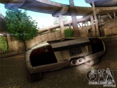 Lamborghini Murcielago Roadster para GTA San Andreas vista traseira