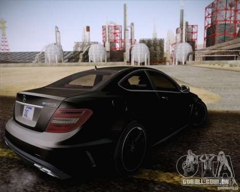 Mercedes-Benz C63 AMG Black Series para GTA San Andreas vista interior