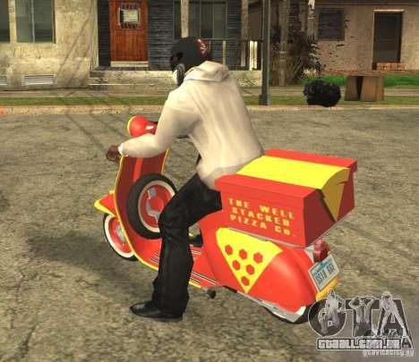 Vespa N-50 Pizzaboy para GTA San Andreas esquerda vista