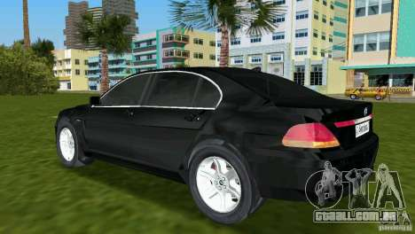 BMW 7-Series 2002 para GTA Vice City vista traseira esquerda