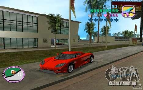 Koenigsegg CCX para GTA Vice City