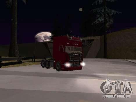 Scania 460 para GTA San Andreas vista interior