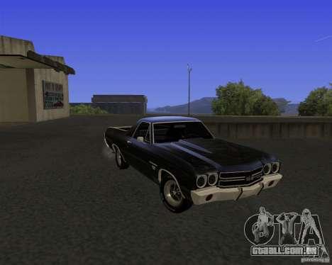 Chevrolet El Camino SS 1970 para GTA San Andreas vista traseira