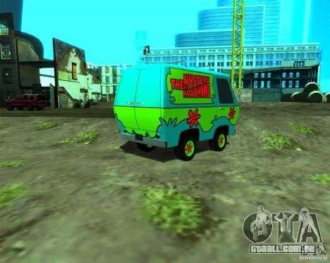 Mystery Machine para GTA San Andreas esquerda vista
