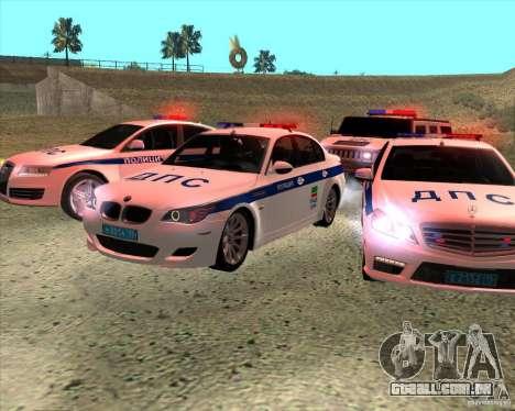 BMW M5 E60 DPS para GTA San Andreas vista traseira