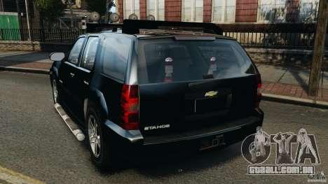 Chevrolet Tahoe LCPD SWAT para GTA 4 traseira esquerda vista
