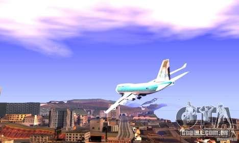 Boeing 747 KLM para GTA San Andreas esquerda vista