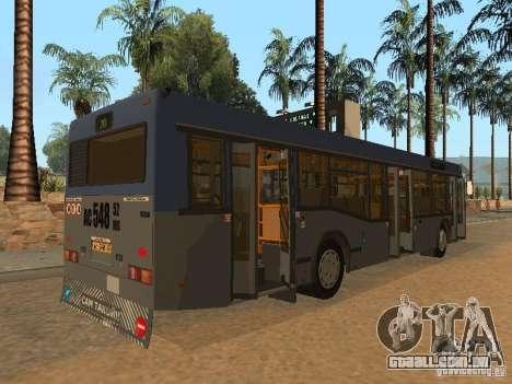 MAZ 103 para GTA San Andreas vista superior