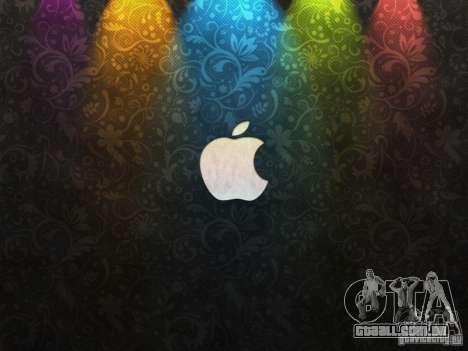 A tela de inicialização de Apple para GTA San Andreas segunda tela