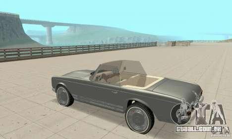 Mercedes-Benz 280SL (Matt) para GTA San Andreas vista traseira